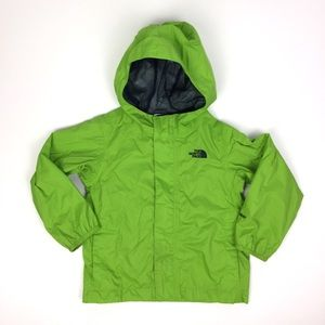 The North Face Boys Bright Green Rain Coat 4T
